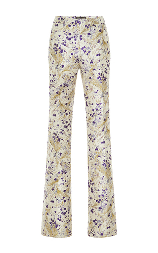 Medium giambattista valli metallic whimsical metallic flared pant