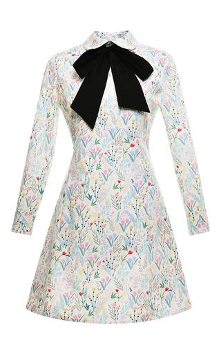 Medium vivetta print timo bow neck dress