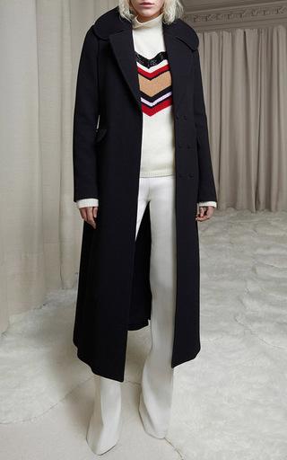 White Flared Cotton Pant by GIAMBATTISTA VALLI Now Available on Moda Operandi