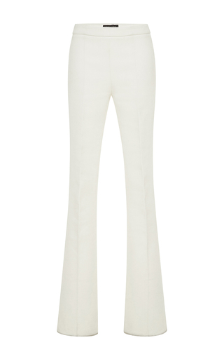 Medium giambattista valli white white flared cotton pant