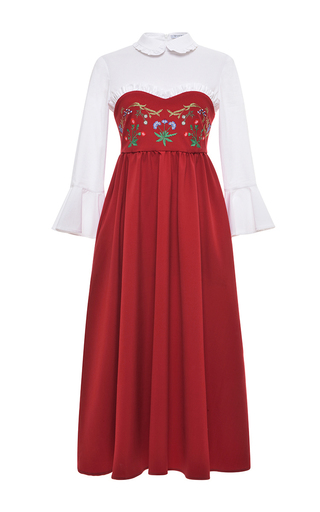 Medium vivetta red dalia midi dress