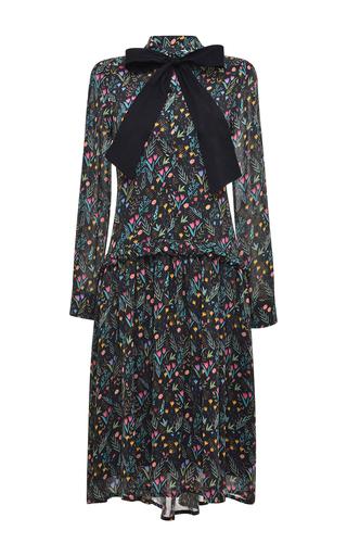 Medium vivetta black black ciliegio bow dress