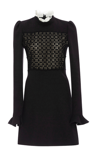 Medium giambattista valli black contrast panel dress
