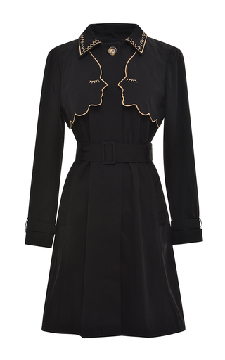 Medium vivetta black black narciso trench coat