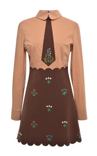 Medium vivetta brown black perlina dress