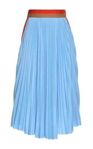 Medium msgm blue striped pleated skirt