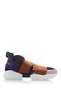 Leather And Elastane Sneakers by EMILIO PUCCI Now Available on Moda Operandi