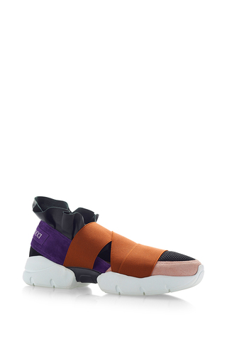 Medium emilio pucci multi leather and elastane sneakers