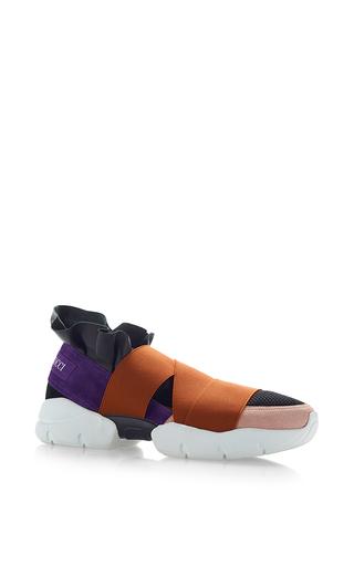 Medium emilio pucci multi leather and elastane sneakers