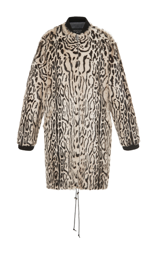 Medium giambattista valli print printed goat fur parka