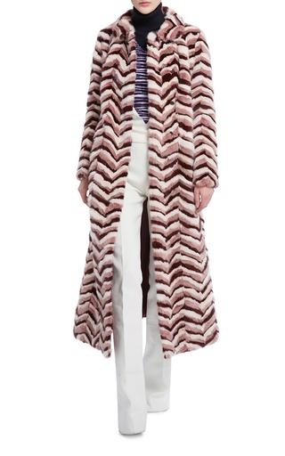 Long Chevron Mink Coat by GIAMBATTISTA VALLI Now Available on Moda Operandi