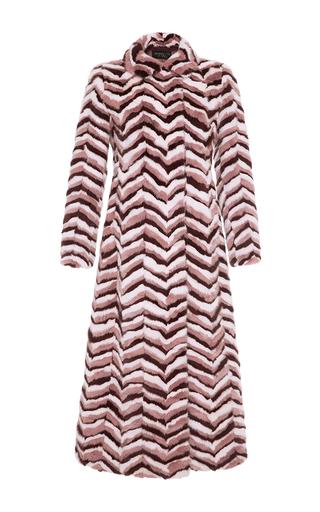 Medium giambattista valli multi long chevron mink coat