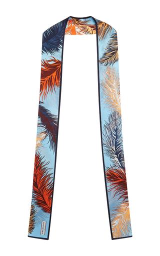Medium emilio pucci multi light blue printed silk scarf