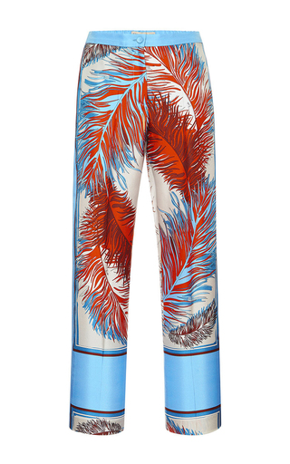 Medium emilio pucci print silk slim pant