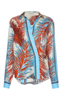 Feather Print Silk Blouse by EMILIO PUCCI Now Available on Moda Operandi