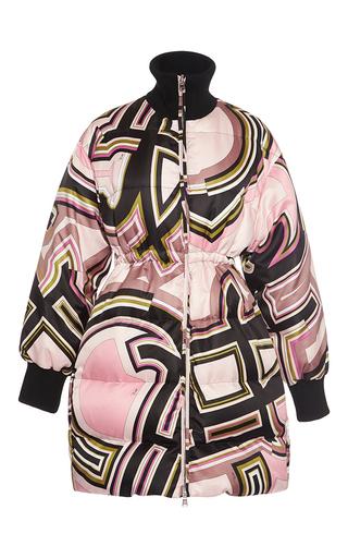 Medium emilio pucci print cinched down coat