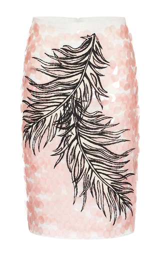 Medium emilio pucci pink paillette embellished pencil skirt