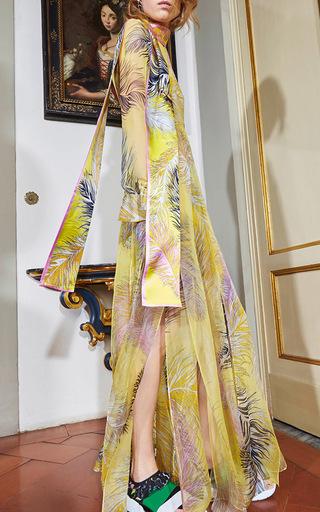 Draped Silk Long Dress by EMILIO PUCCI Now Available on Moda Operandi