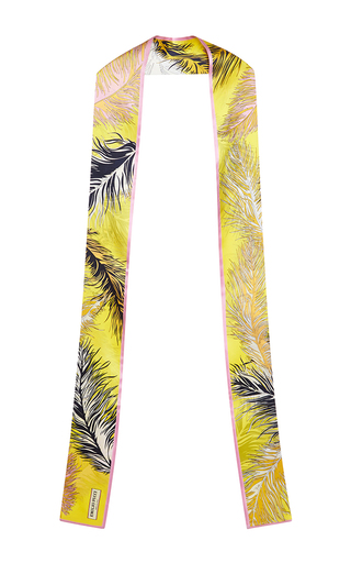 Medium emilio pucci yellow yellow printed silk scarf
