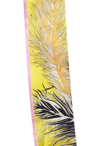 Yellow Printed Silk Scarf by EMILIO PUCCI Now Available on Moda Operandi