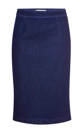 Medium emilio pucci dark wash denim pencil skirt