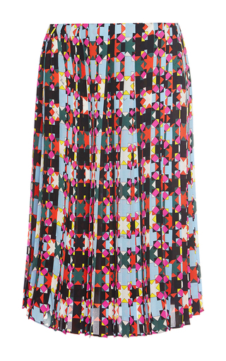 Medium emilio pucci multi pleated knee length silk skirt