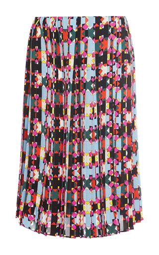 Medium emilio pucci multi pleated knee length silk skirt