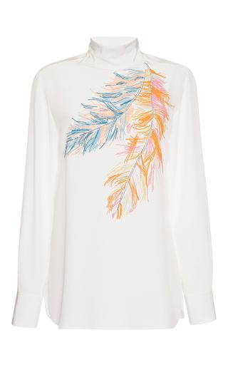 Medium emilio pucci white turtleneck silk blouse