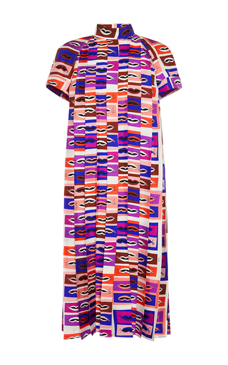 Pleated Mock Neck Silk Dress by EMILIO PUCCI for Preorder on Moda Operandi
