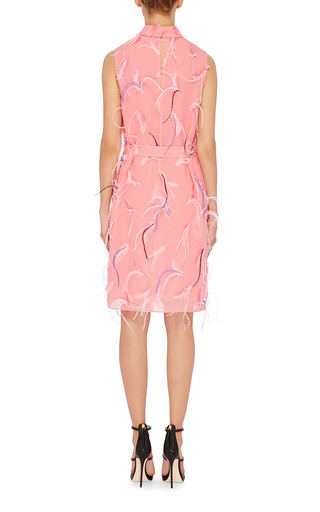 Feather Embroidered Shift Dress by EMILIO PUCCI Now Available on Moda Operandi