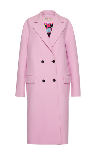 Medium emilio pucci pink pink double breasted cashmere wool coat