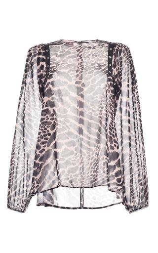Medium giamba black studded zebra georgette blouse