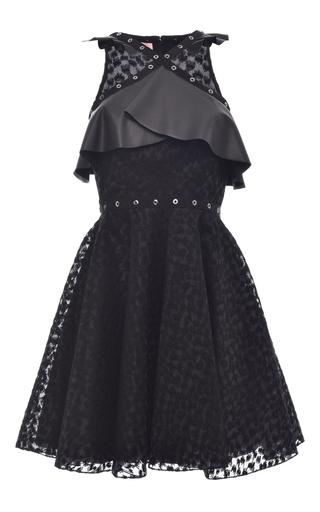 Medium giamba black studded organza ruffle dress
