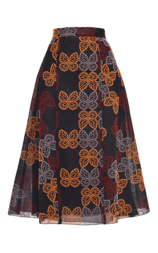 Medium giamba black embroidered butterfly tulle skirt