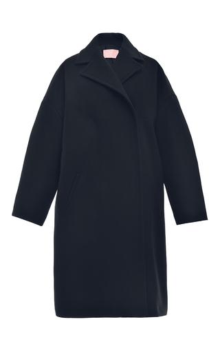 Medium giamba black wool canvas coat