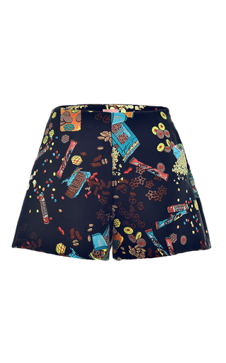 Medium giamba black chips jacquard short