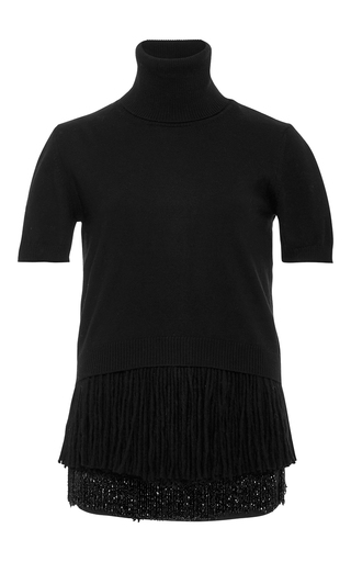 Medium no 21 black short sleeve turtleneck sweater