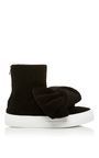 High Top Bow Sneakers by JOSHUA SANDERS Now Available on Moda Operandi