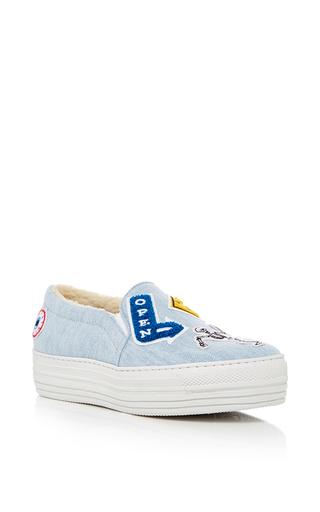 Medium joshua sanders light blue denim slip on sneakers