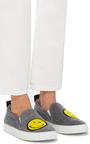 Grey Felt Smile Sneaker by JOSHUA SANDERS Now Available on Moda Operandi