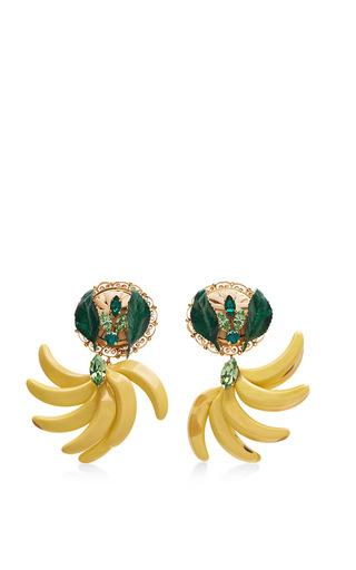 Medium dolce gabbana yellow resin banana earrings