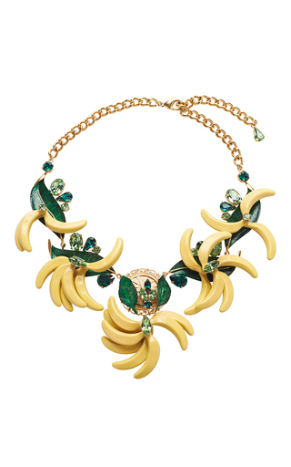 Medium dolce gabbana yellow resin banana necklace