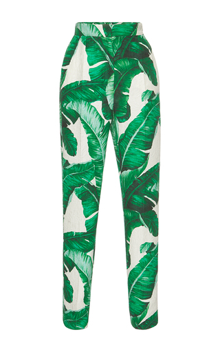 Medium dolce gabbana print palm leaf printed trousers