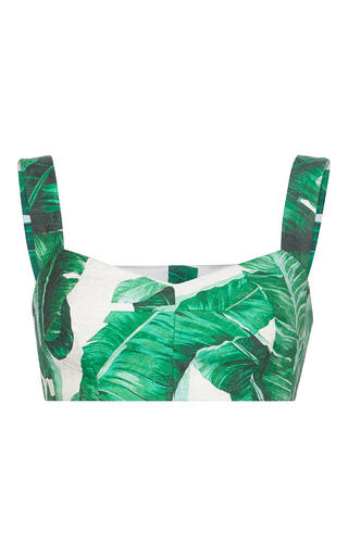 Medium dolce gabbana print palm leaf printed bra top