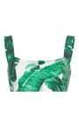 Palm Leaf Printed Bra Top by DOLCE & GABBANA Now Available on Moda Operandi