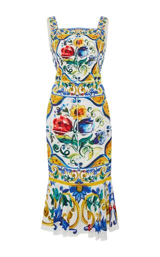 Medium dolce gabbana print printed ruffle skirt dress