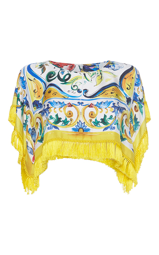 Printed Crop Top by DOLCE & GABBANA Now Available on Moda Operandi