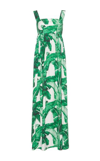 Medium dolce gabbana print palm leaf maxi dress