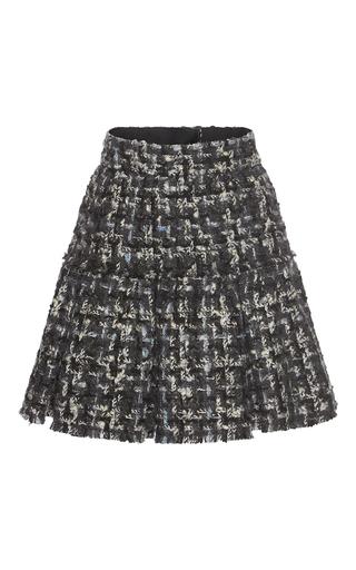 Medium dolce gabbana dark grey pleated tweed miniskirt