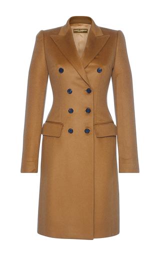 Medium dolce gabbana tan double breasted coat